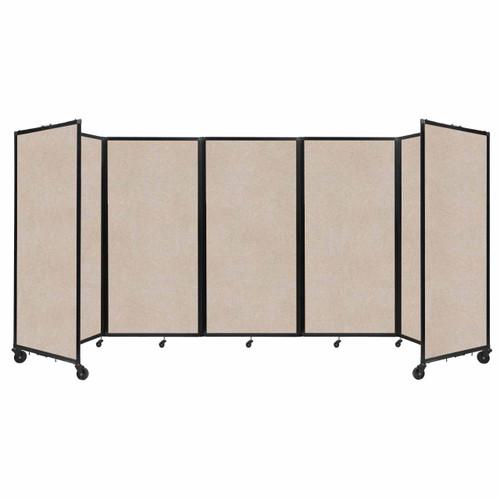 SoundSorb Room Divider 360 Folding Partition 14' x 6' Beige High Density Polyester