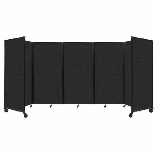 SoundSorb Room Divider 360 Folding Partition 14' x 6' Black High Density Polyester