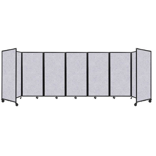 "SoundSorb Room Divider 360 Folding Partition 19'6"" x 6' Marble Gray High Density Polyester"