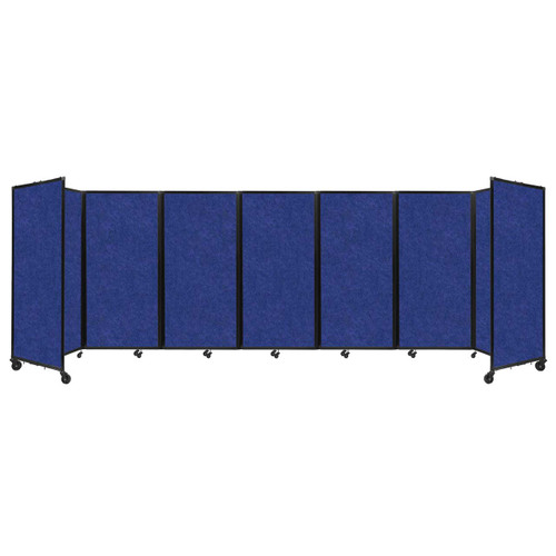 "SoundSorb Room Divider 360 Folding Partition 19'6"" x 6' Blue High Density Polyester"