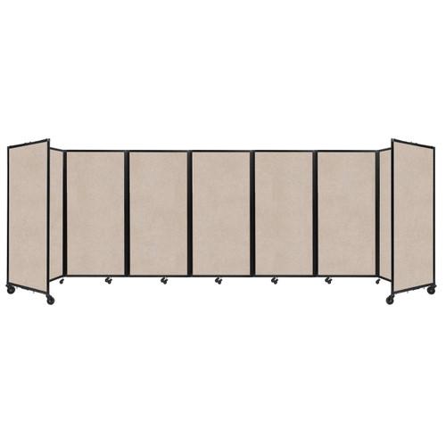 """SoundSorb Room Divider 360 Folding Partition 19'6"""" x 6' Beige High Density Polyester"""