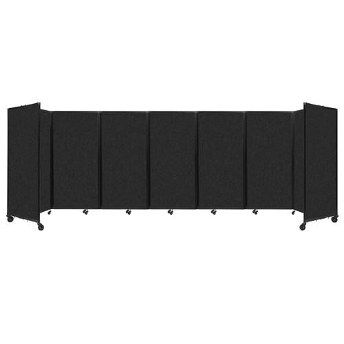"""SoundSorb Room Divider 360 Folding Partition 19'6"""" x 6' Black High Density Polyester"""