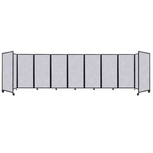 SoundSorb Room Divider 360 Folding Partition 25' x 6' Marble Gray High Density Polyester