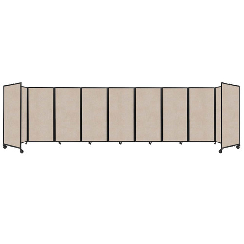 SoundSorb Room Divider 360 Folding Partition 25' x 6' Beige High Density Polyester