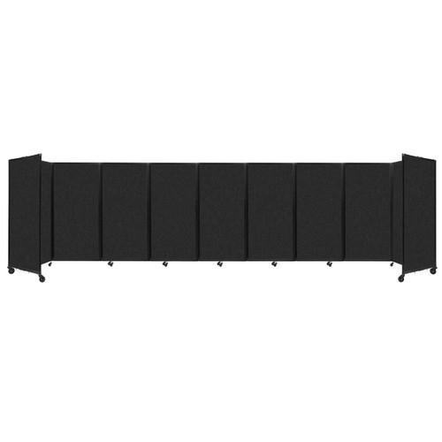 SoundSorb Room Divider 360 Folding Partition 25' x 6' Black High Density Polyester