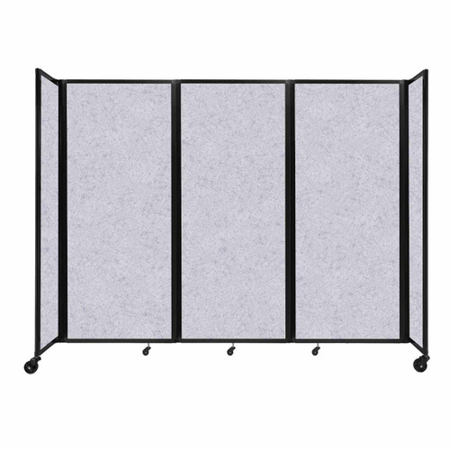 "SoundSorb Room Divider 360 Folding Partition 8'6"" x 6'10"" Marble Gray High Density Polyester"