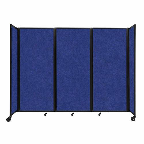 """SoundSorb Room Divider 360 Folding Partition 8'6"""" x 6'10"""" Blue High Density Polyester"""