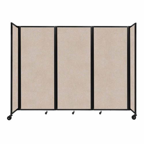 """SoundSorb Room Divider 360 Folding Partition 8'6"""" x 6'10"""" Beige High Density Polyester"""