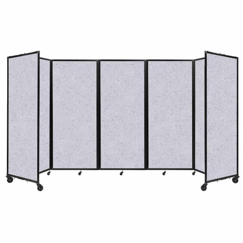 """SoundSorb Room Divider 360 Folding Partition 14' x 6'10"""" Marble Gray High Density Polyester"""