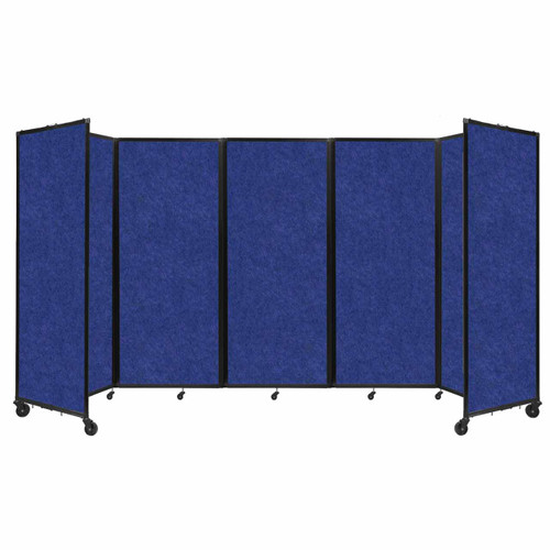 "SoundSorb Room Divider 360 Folding Partition 14' x 6'10"" Blue High Density Polyester"