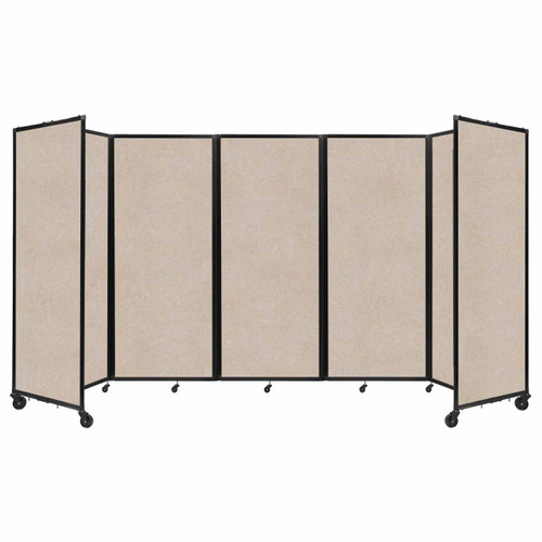 "SoundSorb Room Divider 360 Folding Partition 14' x 6'10"" Beige High Density Polyester"