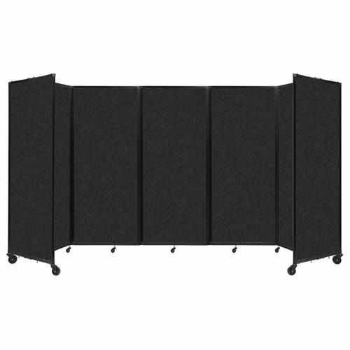 """SoundSorb Room Divider 360 Folding Partition 14' x 6'10"""" Black High Density Polyester"""