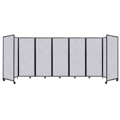 "SoundSorb Room Divider 360 Folding Partition 19'6"" x 6'10"" Marble Gray High Density Polyester"