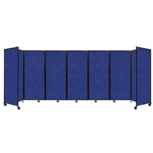 """SoundSorb Room Divider 360 Folding Partition 19'6"""" x 6'10"""" Blue High Density Polyester"""