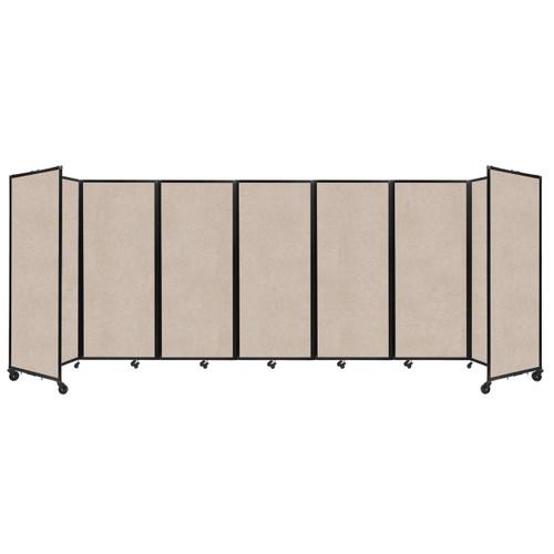 """SoundSorb Room Divider 360 Folding Partition 19'6"""" x 6'10"""" Beige High Density Polyester"""