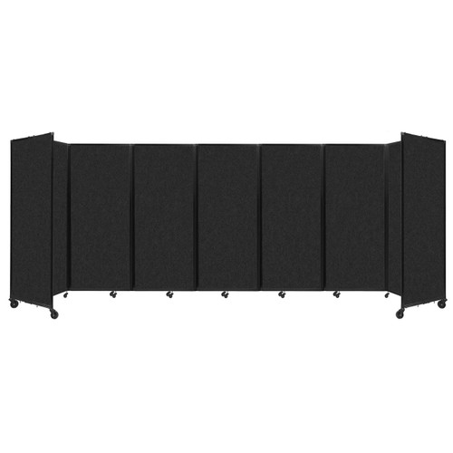 """SoundSorb Room Divider 360 Folding Partition 19'6"""" x 6'10"""" Black High Density Polyester"""