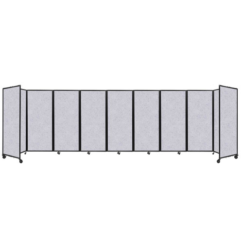 "SoundSorb Room Divider 360 Folding Partition 25' x 6'10"" Marble Gray High Density Polyester"