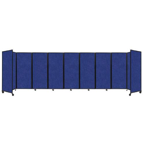 """SoundSorb Room Divider 360 Folding Partition 25' x 6'10"""" Blue High Density Polyester"""