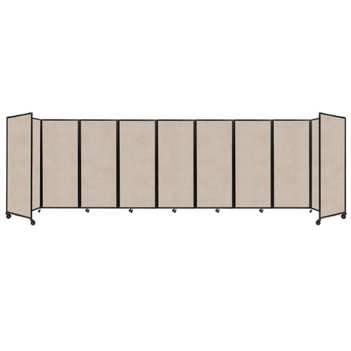 "SoundSorb Room Divider 360 Folding Partition 25' x 6'10"" Beige High Density Polyester"