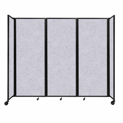 "SoundSorb Room Divider 360 Folding Partition 8'6"" x 7'6"" Marble Gray High Density Polyester"