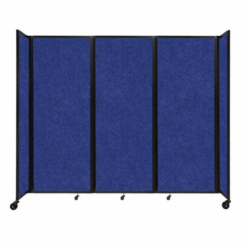"""SoundSorb Room Divider 360 Folding Partition 8'6"""" x 7'6"""" Blue High Density Polyester"""