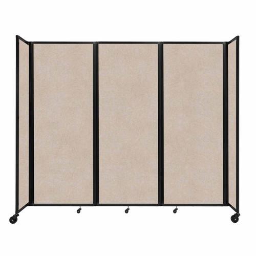 """SoundSorb Room Divider 360 Folding Partition 8'6"""" x 7'6"""" Beige High Density Polyester"""