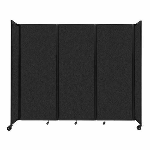 """SoundSorb Room Divider 360 Folding Partition 8'6"""" x 7'6"""" Black High Density Polyester"""
