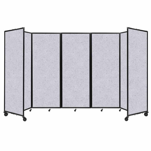 """SoundSorb Room Divider 360 Folding Partition 14' x 7'6"""" Marble Gray High Density Polyester"""