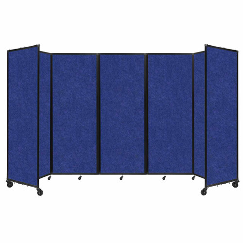 "SoundSorb Room Divider 360 Folding Partition 14' x 7'6"" Blue High Density Polyester"