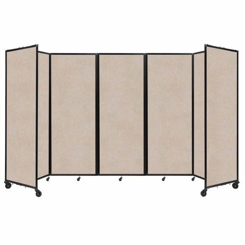 """SoundSorb Room Divider 360 Folding Partition 14' x 7'6"""" Beige High Density Polyester"""