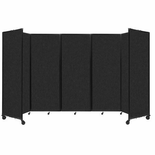 """SoundSorb Room Divider 360 Folding Partition 14' x 7'6"""" Black High Density Polyester"""