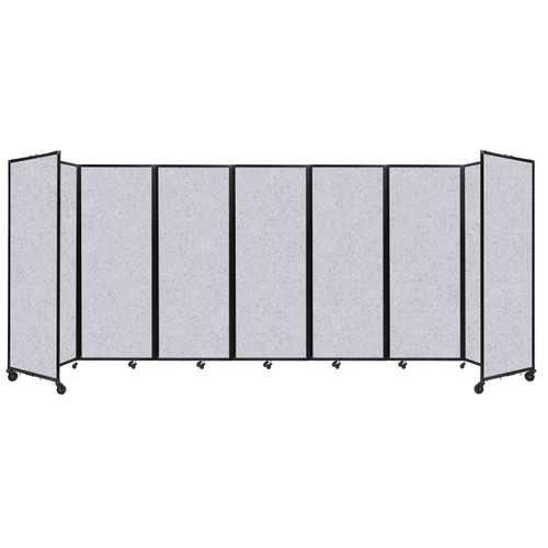 "SoundSorb Room Divider 360 Folding Partition 19'6"" x 7'6"" Marble Gray High Density Polyester"