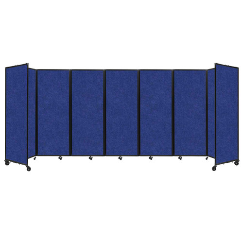 "SoundSorb Room Divider 360 Folding Partition 19'6"" x 7'6"" Blue High Density Polyester"
