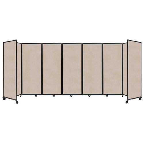 """SoundSorb Room Divider 360 Folding Partition 19'6"""" x 7'6"""" Beige High Density Polyester"""