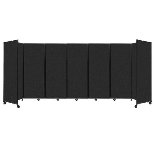 """SoundSorb Room Divider 360 Folding Partition 19'6"""" x 7'6"""" Black High Density Polyester"""