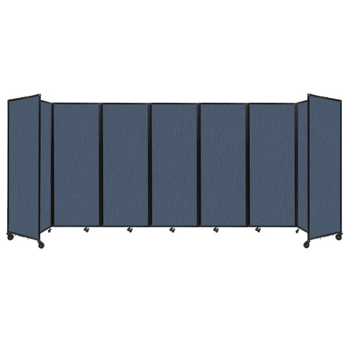 """Room Divider 360 Folding Portable Partition 19'6"""" x 7'6"""" Ocean Fabric"""