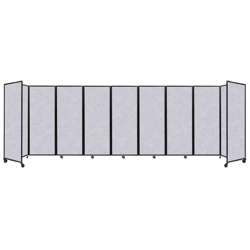 """SoundSorb Room Divider 360 Folding Partition 25' x 7'6"""" Marble Gray High Density Polyester"""