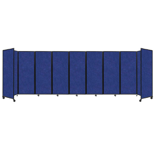 "SoundSorb Room Divider 360 Folding Partition 25' x 7'6"" Blue High Density Polyester"