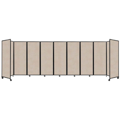 "SoundSorb Room Divider 360 Folding Partition 25' x 7'6"" Beige High Density Polyester"