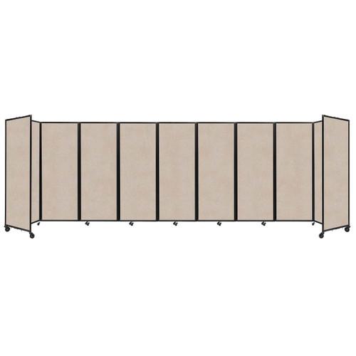 """SoundSorb Room Divider 360 Folding Partition 25' x 7'6"""" Beige High Density Polyester"""