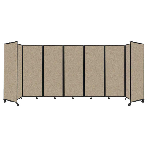 """Room Divider 360 Folding Portable Partition 19'6"""" x 7'6"""" Rye Fabric"""