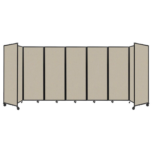 """Room Divider 360 Folding Portable Partition 19'6"""" x 7'6"""" Sand Fabric"""
