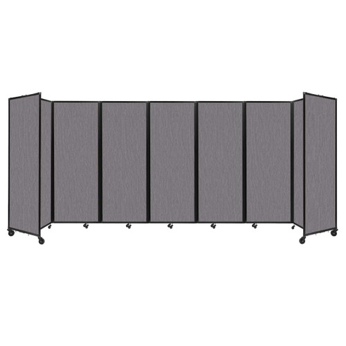 """Room Divider 360 Folding Portable Partition 19'6"""" x 7'6"""" Slate Fabric"""