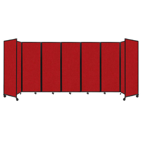 """Room Divider 360 Folding Portable Partition 19'6"""" x 7'6"""" Red Fabric"""