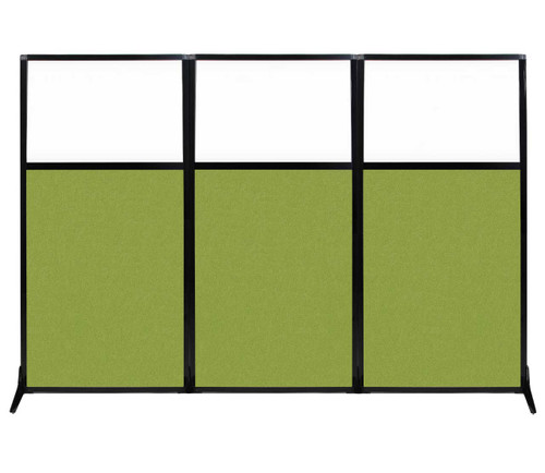 "Work Station Screen 99"" x 70"" Lime Green Fabric With Clear Window"