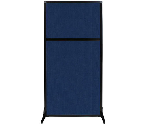 "Work Station Screen 33"" x 70"" Navy Blue Fabric"