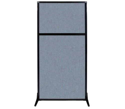 "Work Station Screen 33"" x 70"" Powder Blue Fabric"
