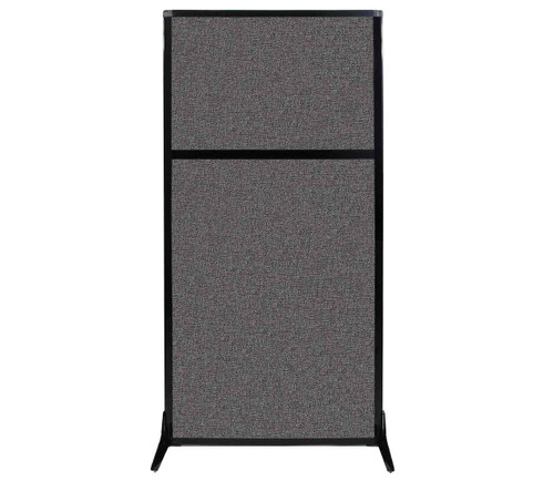 "Work Station Screen 33"" x 70"" Charcoal Gray Fabric"