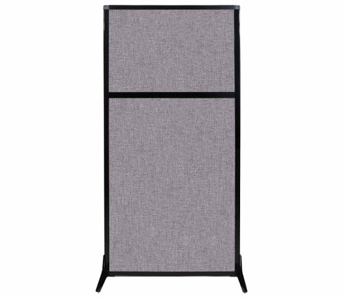 "Work Station Screen 33"" x 70"" Cloud Gray Fabric"