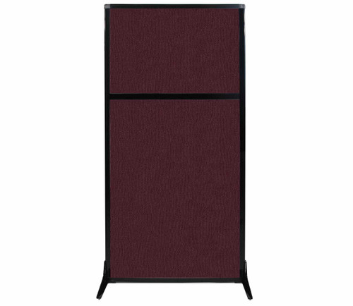 "Work Station Screen 33"" x 70"" Cranberry Fabric"